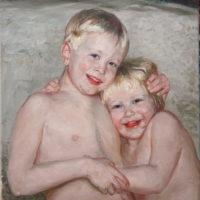 Lapset, öljy, 2011