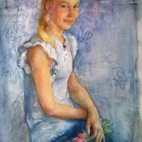 Pitsi. Hilla. Akvarelli, 2014