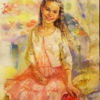 Kesäpäivä. Pihla, akvarelli paperille, 35x45 cm, 2015