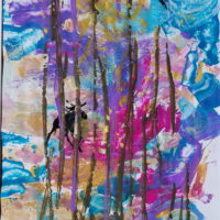 Syksyn mahtavat värit. 2017, akryyli, tempera. 60x45 cm kehyksessä