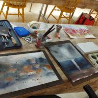 Akvarellipöytä