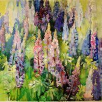 Kesäsävyjä, akvarelli, 2008.