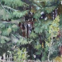 MYYTY. Metsän kissa, akvarelli, 30X40cm, 2008.