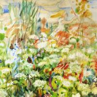 Lapsuudesta. Tyttö, akvarelli, kauniisti kehystettynä 100x 120cm, 2008. Hinta 1300€
