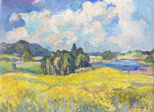Sininen järvi, öljy, 2011.