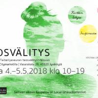 Jyväskylän taiteilijaseuran teosvälitystilaisuus 4.5-5.5.2018