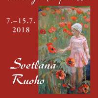 """Ateljeenäyttely """"Taiteilijoiden piirissä"""" 7.7-15.7.2018"""