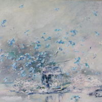 Forget-me-not, öljy kankaalle, 40x 50 cm, 2018, 520€