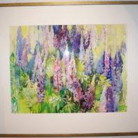Hinta 1300€. Kesäsävyjä, akvarelli, 100x 120cm, 2008.